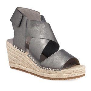 Eileen Fisher    Metallic Leather Wedge Espadrille